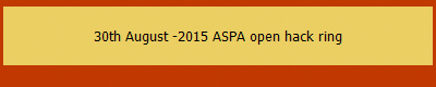 30th August -2015 ASPA open hack ring